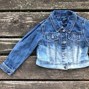 Jean Jacket Dip Dyed Distressed Denim Upcycled